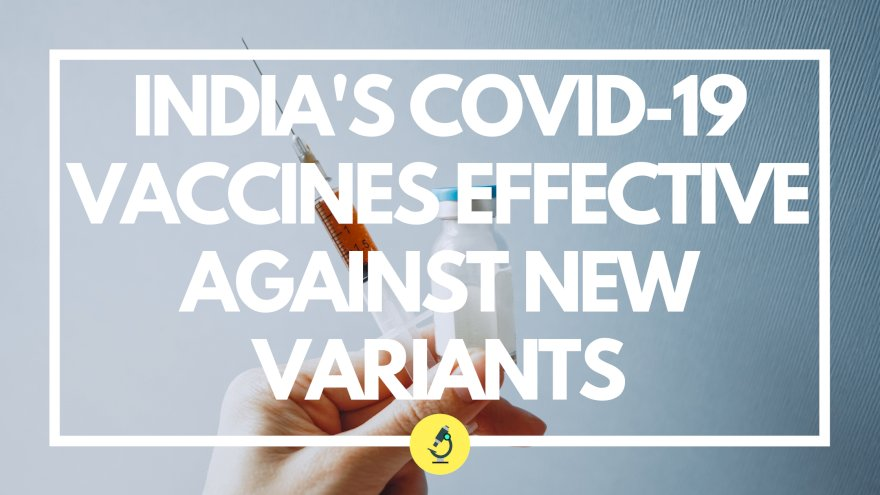 India's Covid-19 vaccines effective against new variants